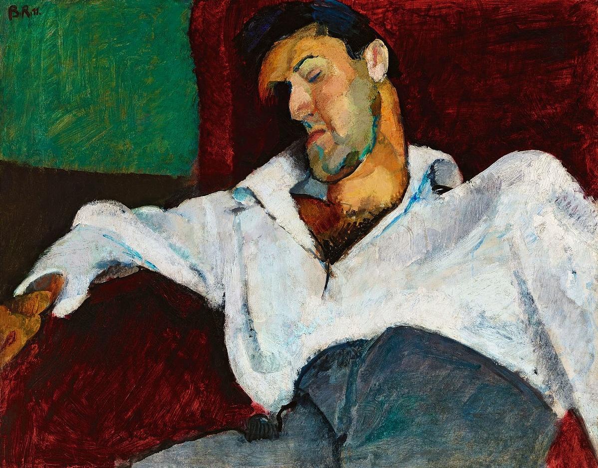 BERÉNY RÓBERT (1887-1953): Weiner Leó arcképe, 1911 Olaj, vászon, 63 x 79 cm