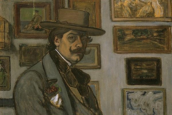 Rippl-Rónai József: Önarckép barna kalapban, 1897