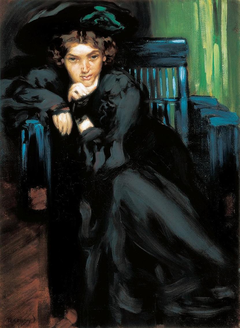 Vaszary János: Leány feketében, 1906