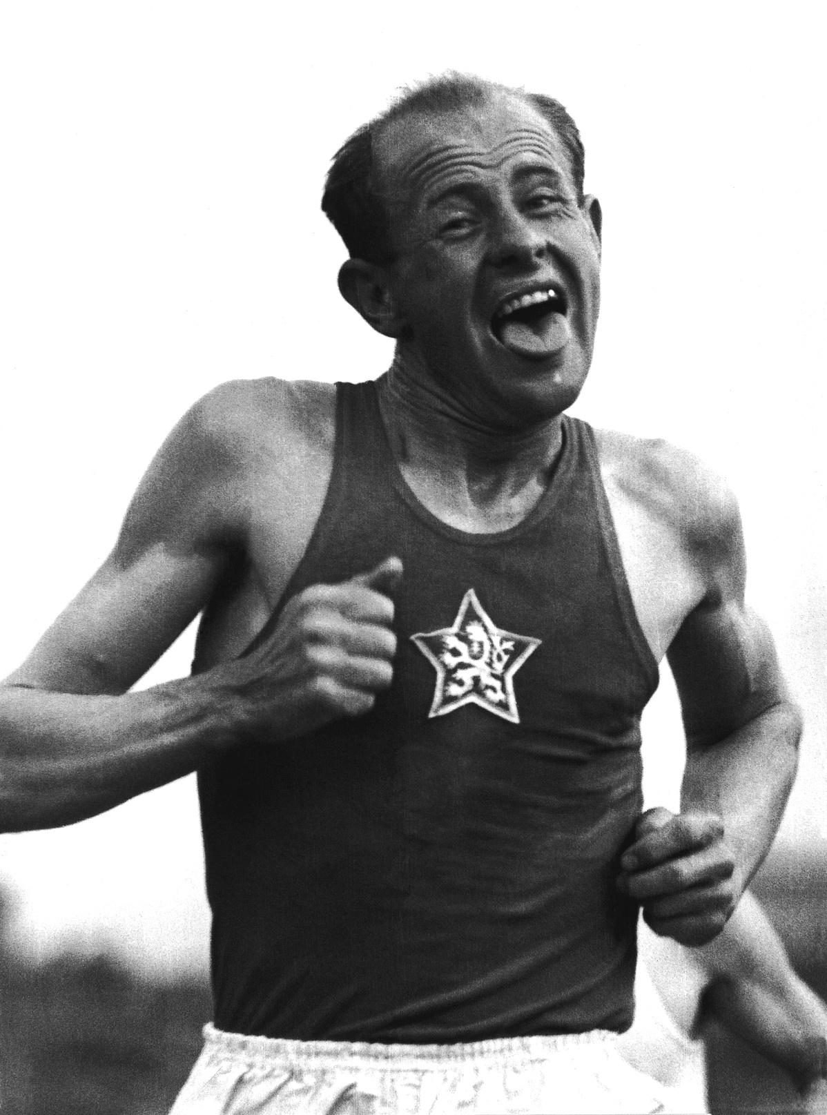 Hemző Károly: Emil Zatopek,1954