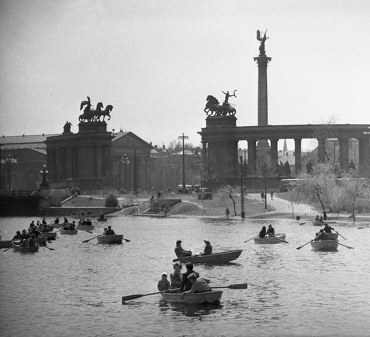 Hemző Károly: Városligeti csónakok, 60-as évek