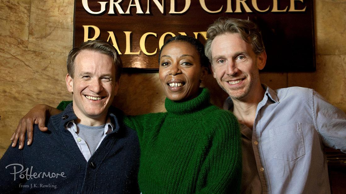 Jamie Parker, Noma Dumezweni és Paul Thornley; Forrás: pottermore.com