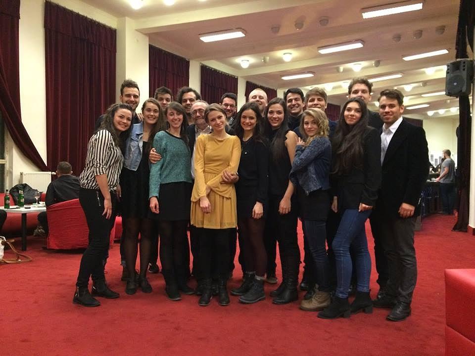 A Színház- és Filmművészeti Egyetem hallgatói