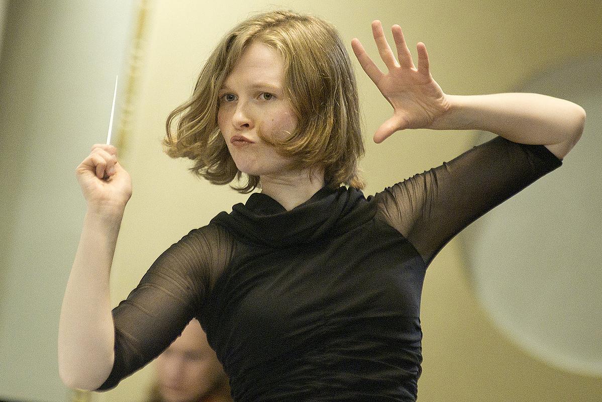 Mirga Gražinytė-Tyla, egy fiatal, feltörekvő női karmester