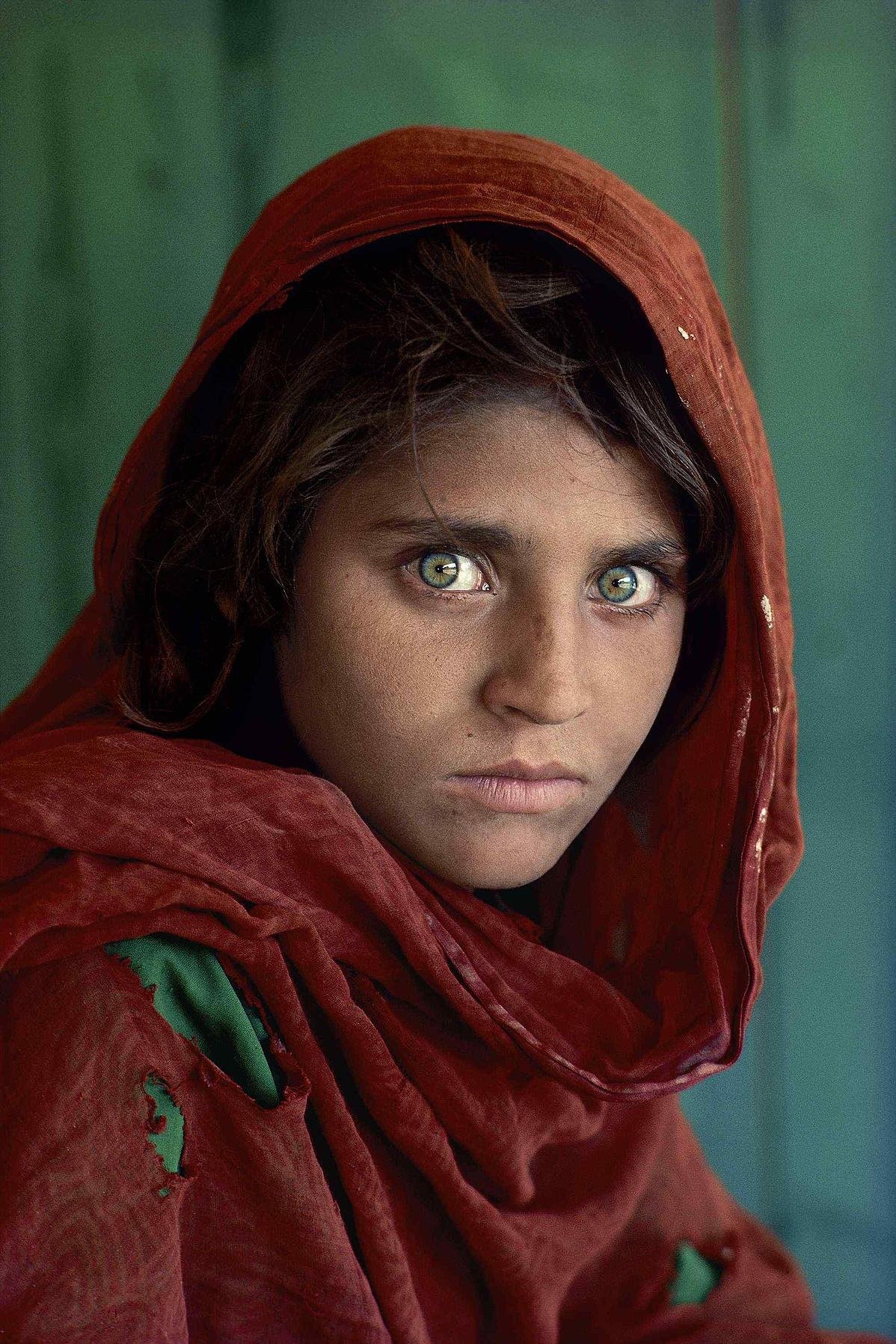 Az afgán lány portréja