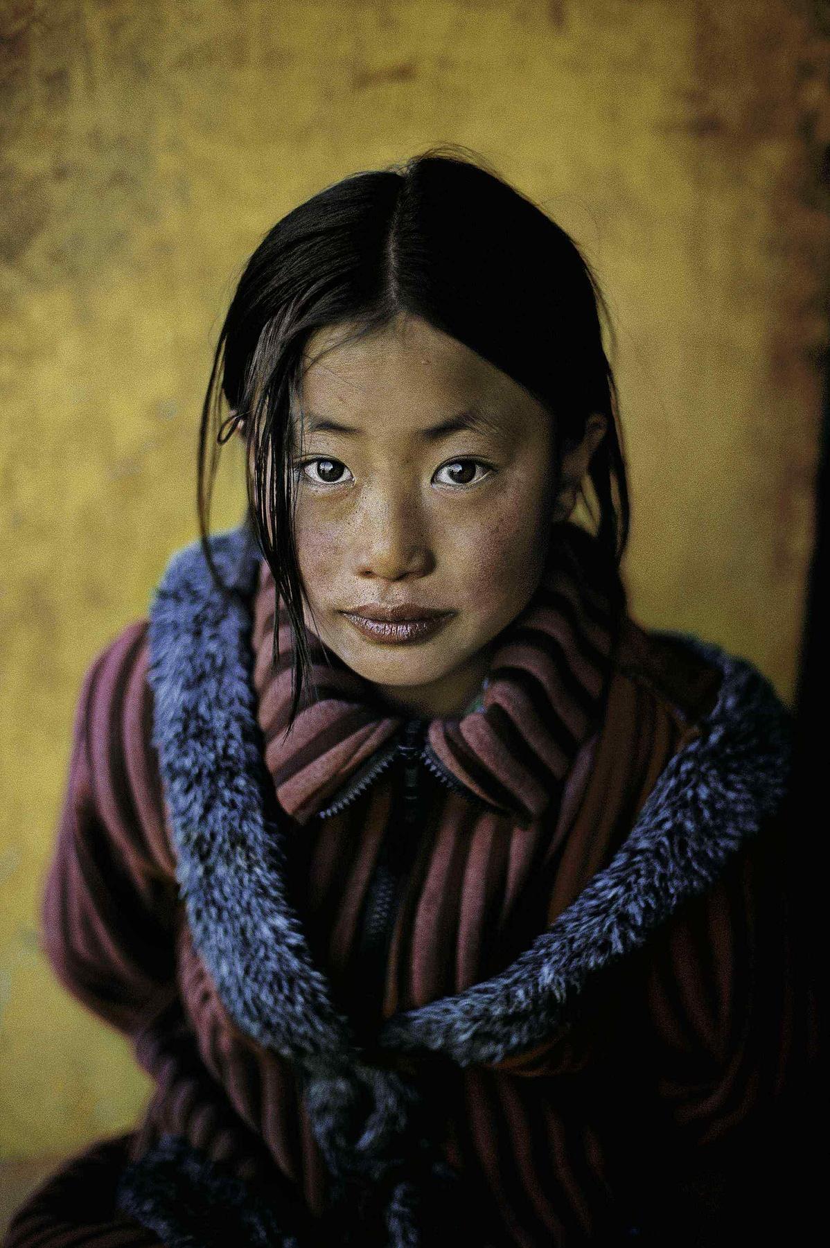 Portré Tibetből