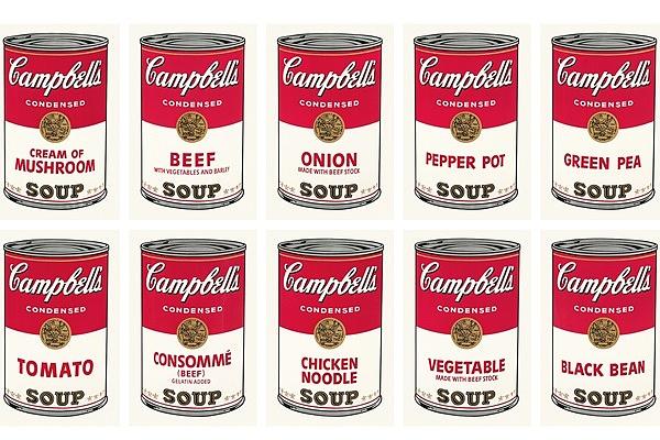 Andy Warhol Campbell Leveskonzerv, 1968