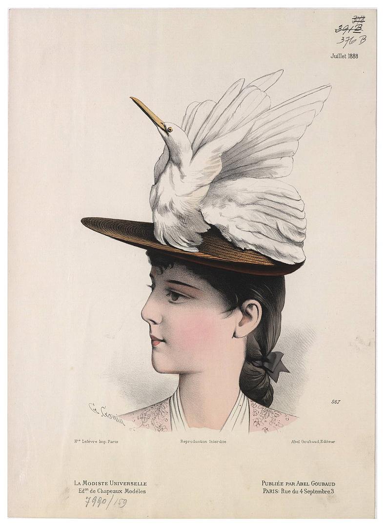 Guido Gonin, Modeillustration aus La Modiste Universelle, Paris, 1888