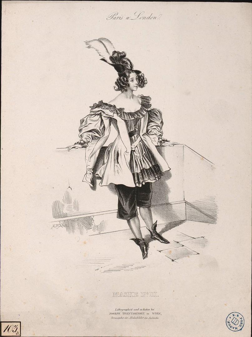 Joseph Trentsensky, Paris u. London, Wien, um 1834