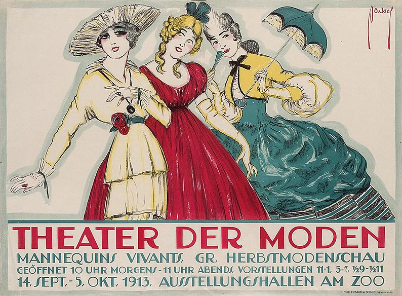 Ernst Deutsch-Dryden, Theater der Moden, Berlin, 1913