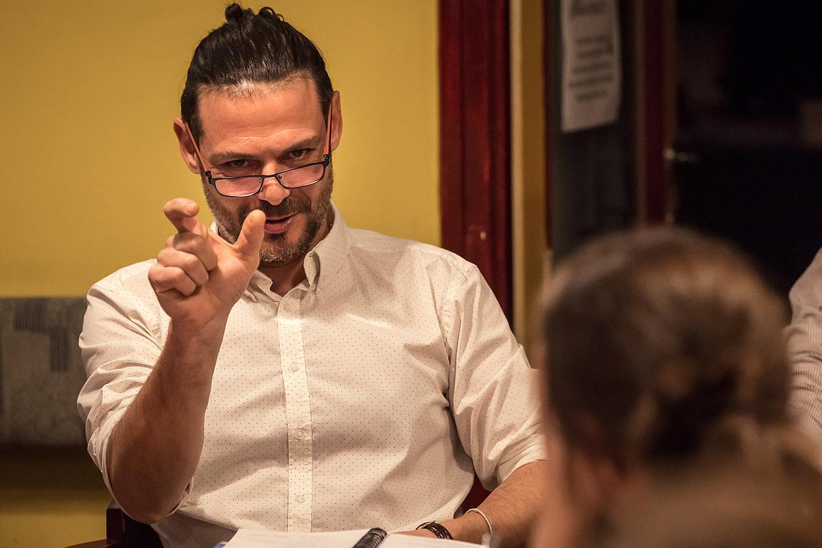 Szikszai Rémusz A párnaember olvasópróbáján