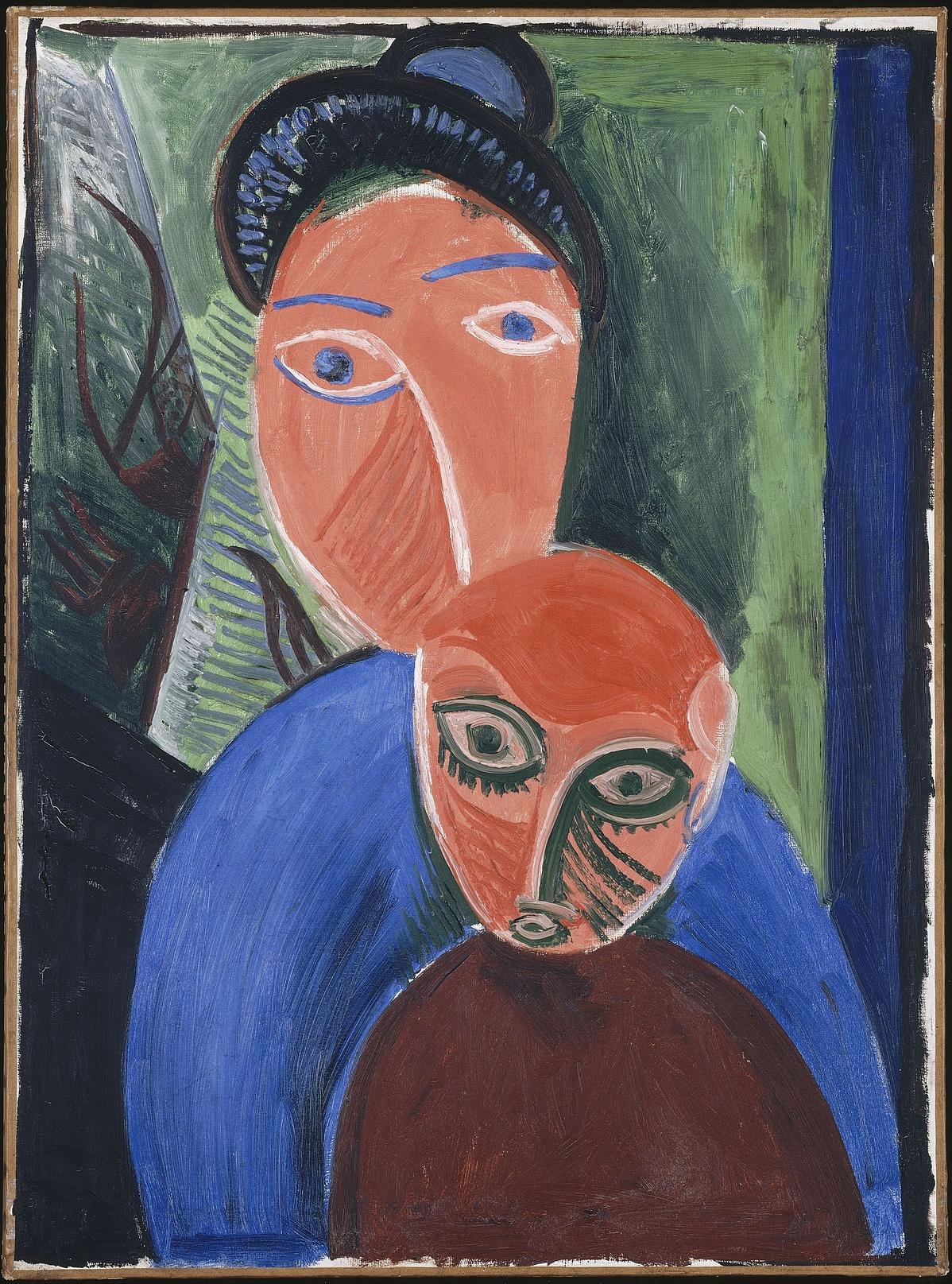 Pablo Picasso: Anya és gyermeke, 1907