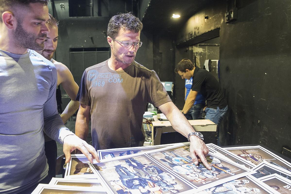 Stohl András a Billy Elliot - a Musical sajtótájékoztatóján