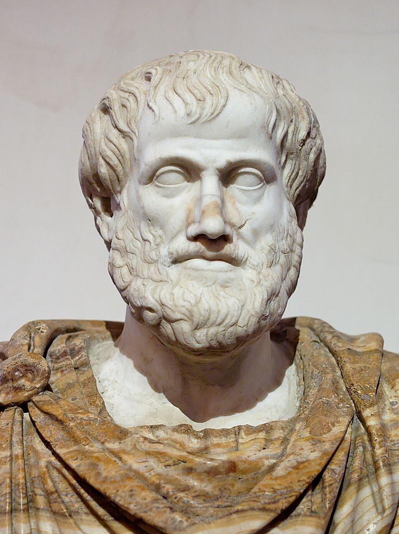 Arisztotelész márványszobra, Lysippos görög bronzszobrának római másolata, ie. 330.