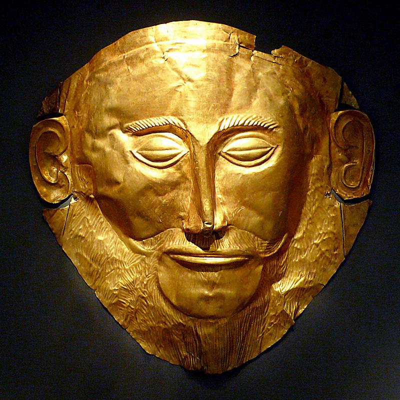 Agamemnón feltételezett halotti maszkja