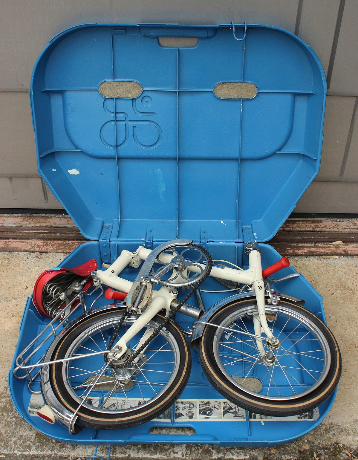 Az 1970 körül megtervezett összecsukható bicikliből végül nem kezdték meg a sorozatgyártást