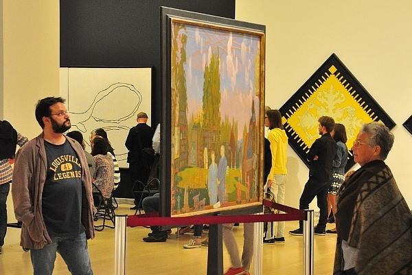 Látogatók a Ludwig Múzeumban a tavalyi Múzeumok Éjszakáján
