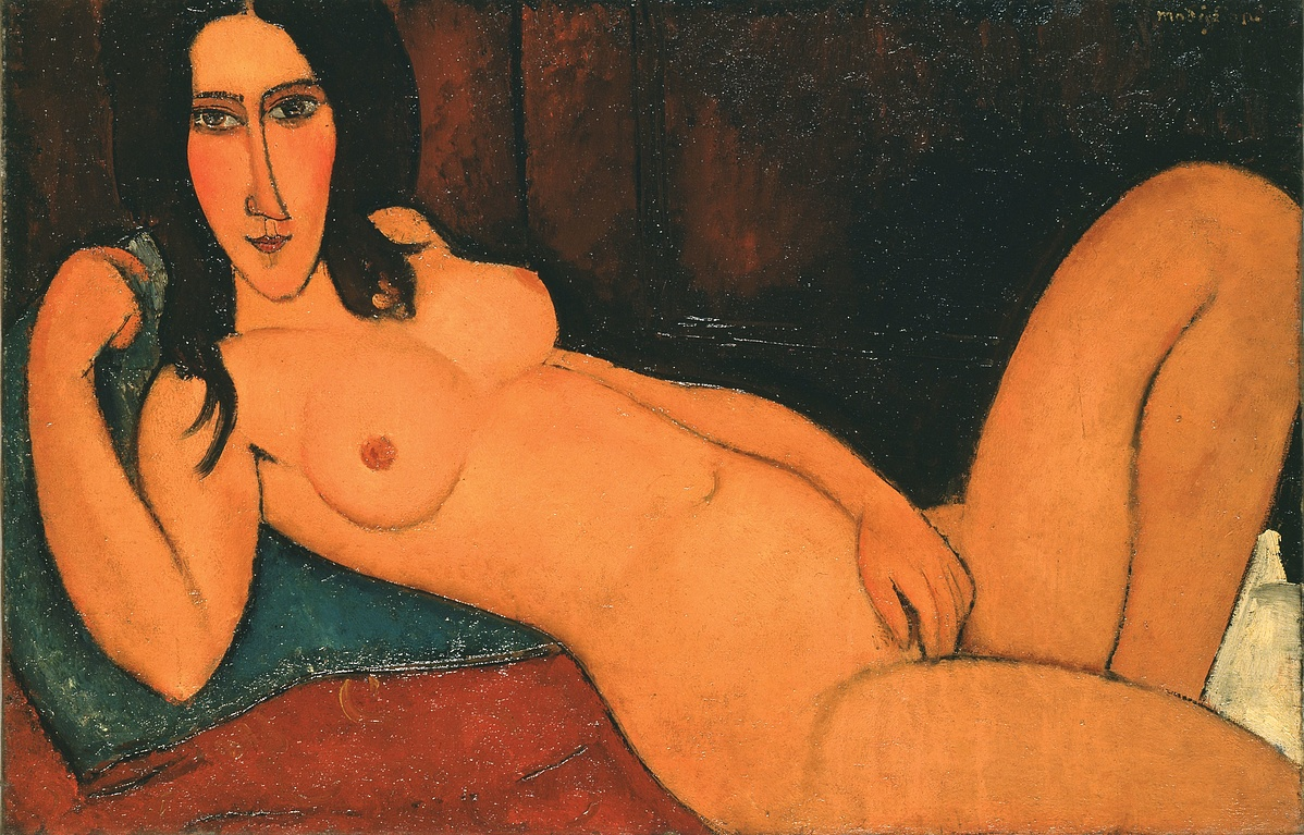 Modigliani: Fekvő akt kibontott hajjal, 1917