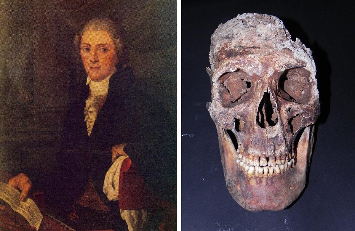 Gaspare Pacchierotti és koponyája