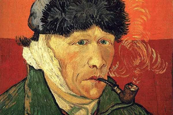 Részlet Vincent van Gogh 1889-es Önarcképéből