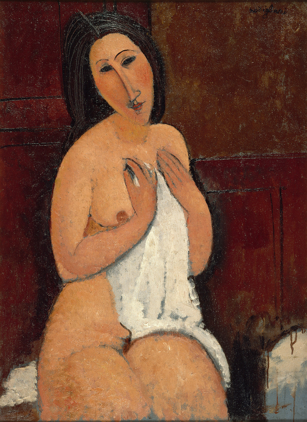Modigliani: Ülő akt inggel, 1917