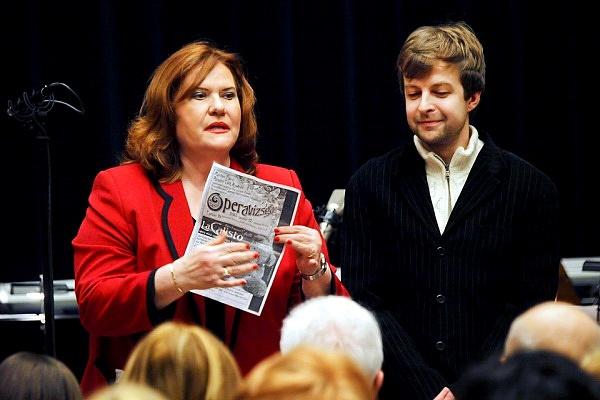 Marton Éva és Almási-Tóth András a 2013. januári operavizsga előtt