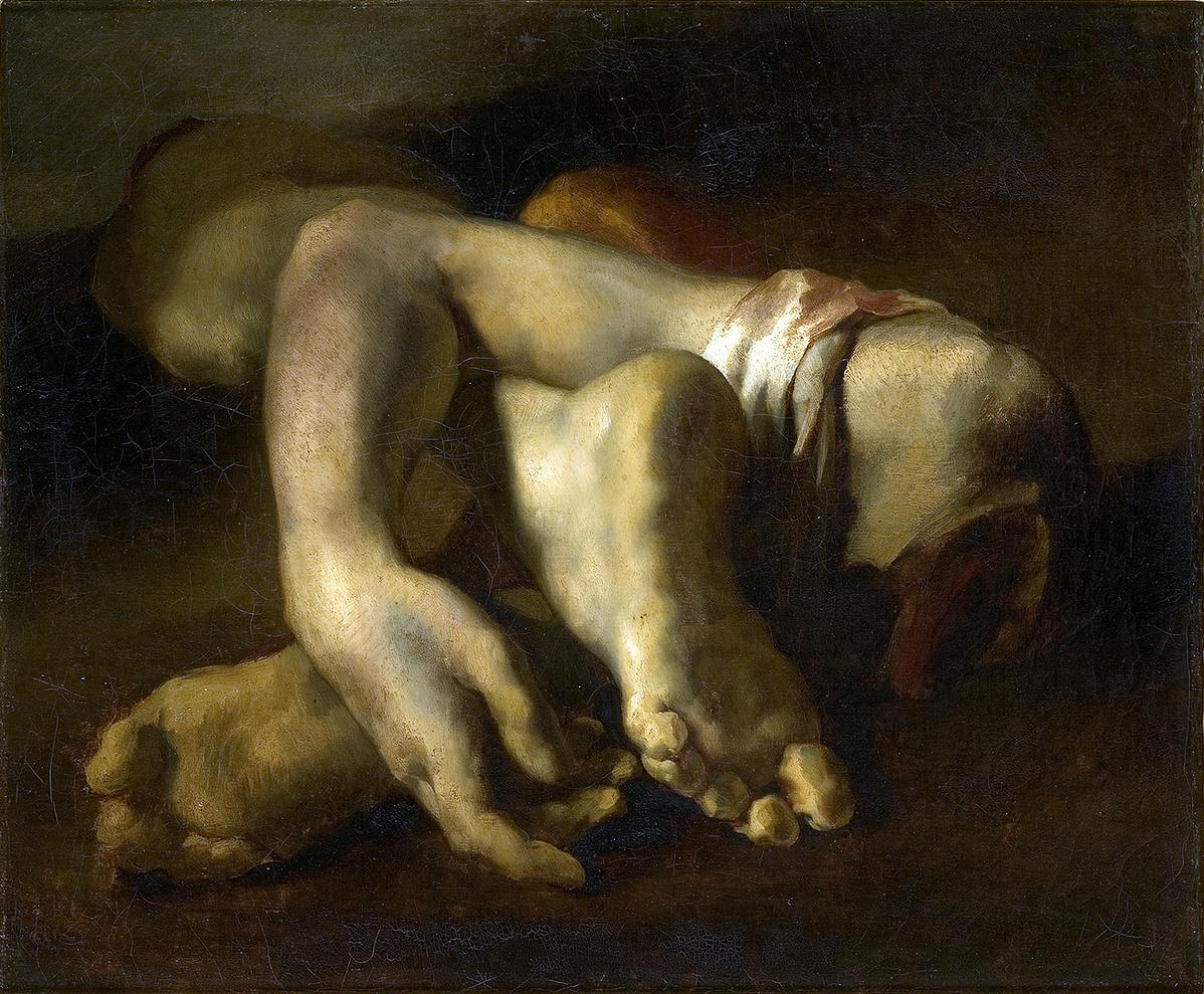 Théodore Géricault: Tanulmány - lábak és kezek (1818-19)
