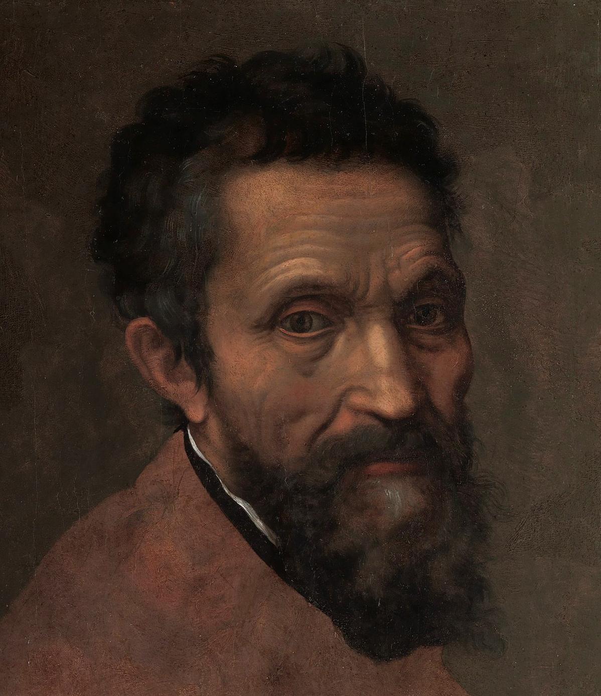 Miguel Ángel, por Daniele da Volterra (detalle), The Metropolitan Museum of Art