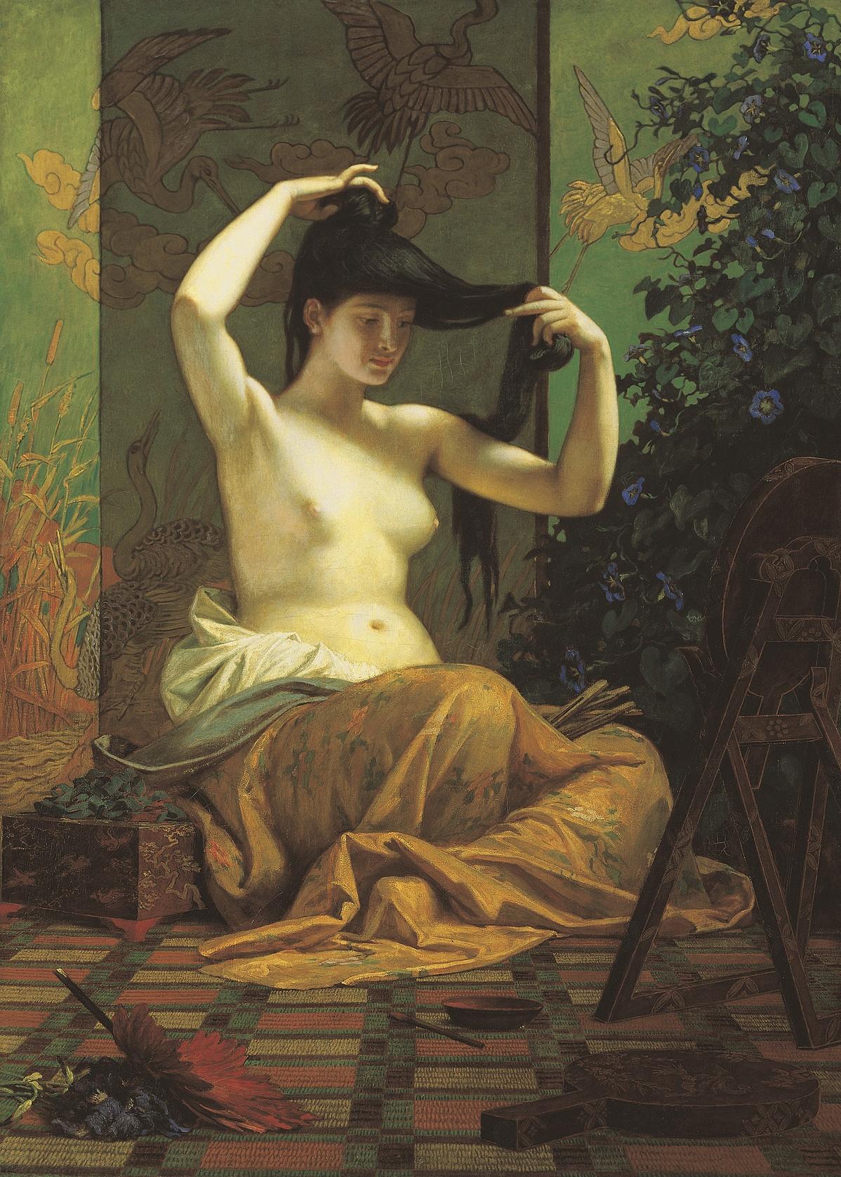 Székely Bertalan: Japán nő (1871)