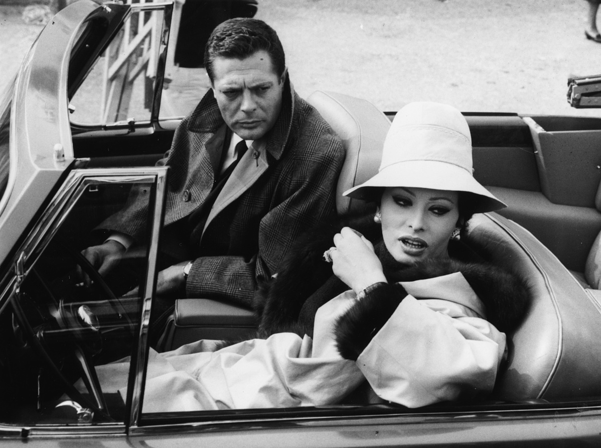 Marcello Mastroianni és Sophia Loren
