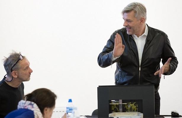 László Zsolt és Alföldi Róbert a Futótűz olvasópróbáján