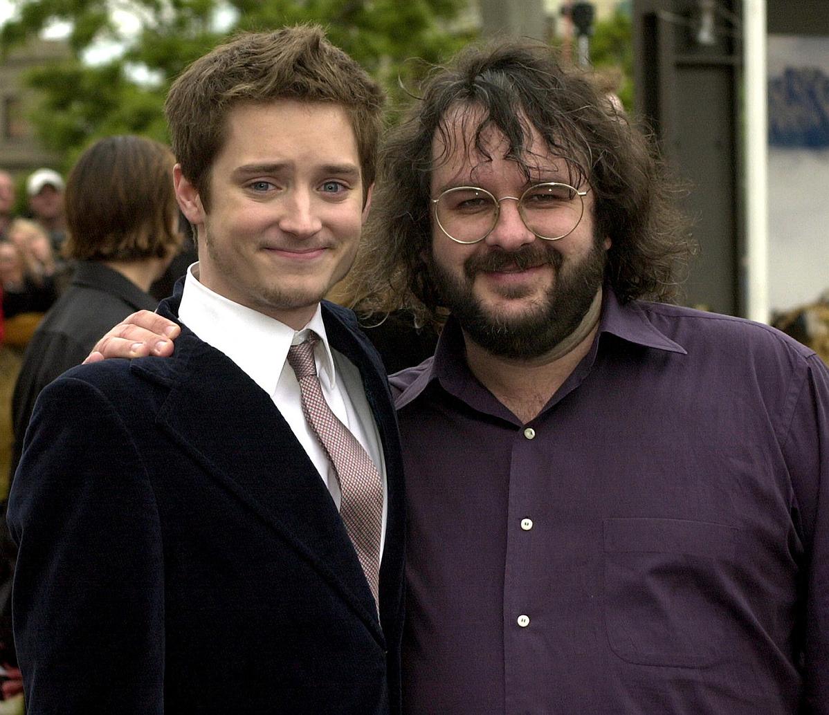 Elijah Wood, vagyis Frodó és a - leheletnyivel alacsonyabb - rendező, Peter Jackson