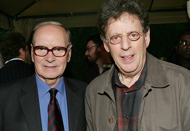 Ennio Morricone és Philip Glass