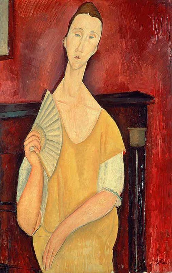 Amadeo Modigliani: Nő legyezővel