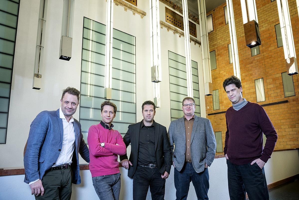 Studio 5 (balról jobbra): Mátyássy Szabolcs, Bella Máté, Kutrik Bence, Solti Árpád és Virágh András Gábor