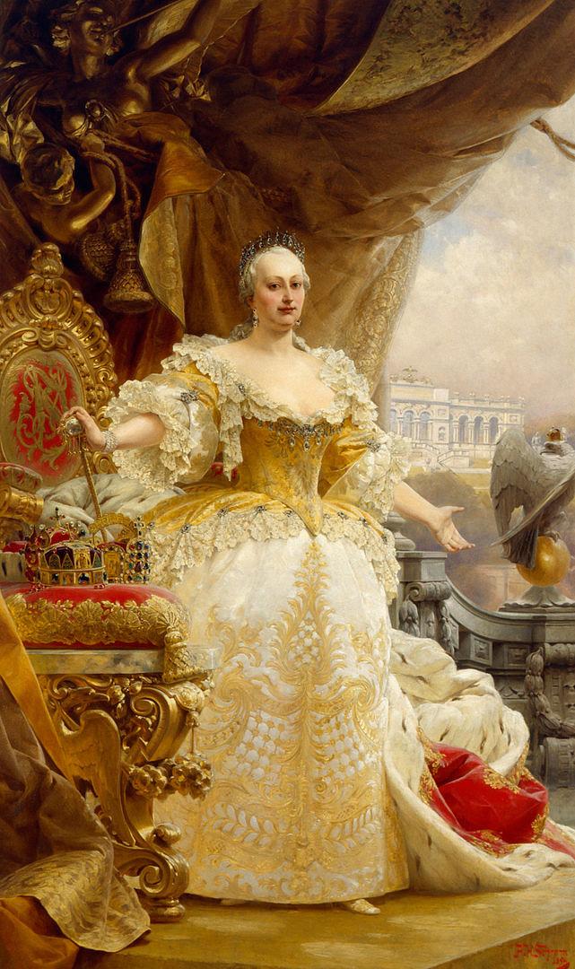 Alois Hans Schram: Mária Terézia sárga ruhában (1894)