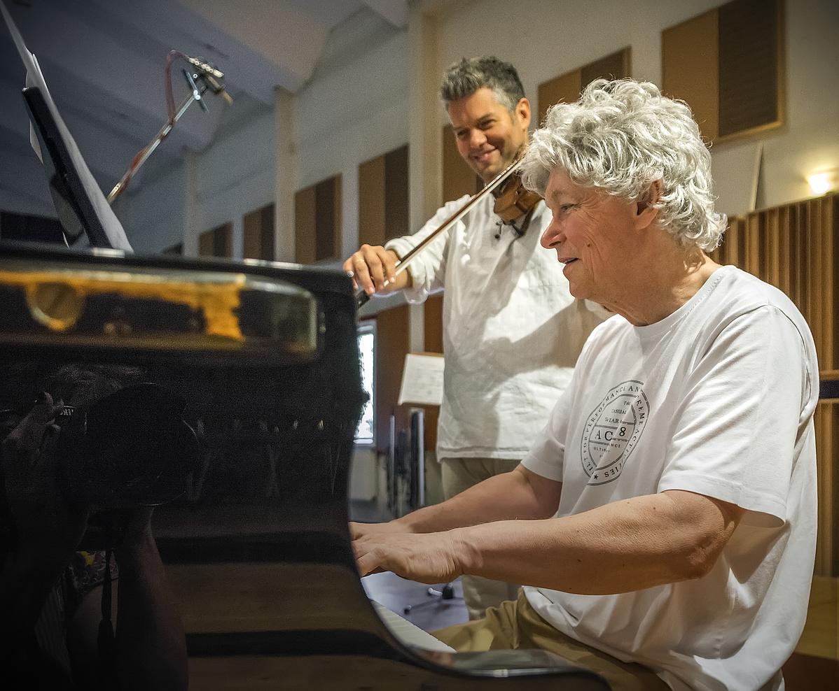 Kocsis Zoltán és Kelemen Barnabás a stúdióban