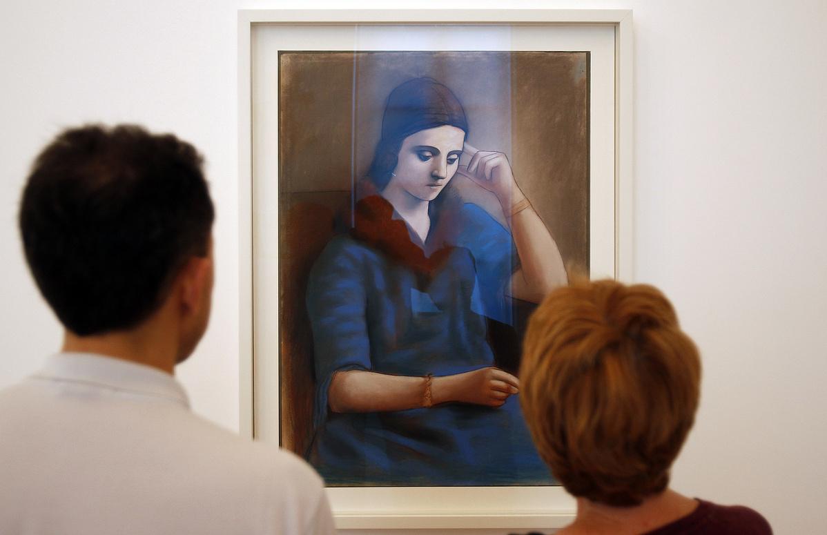 Picasso portréja Olga Koklováról