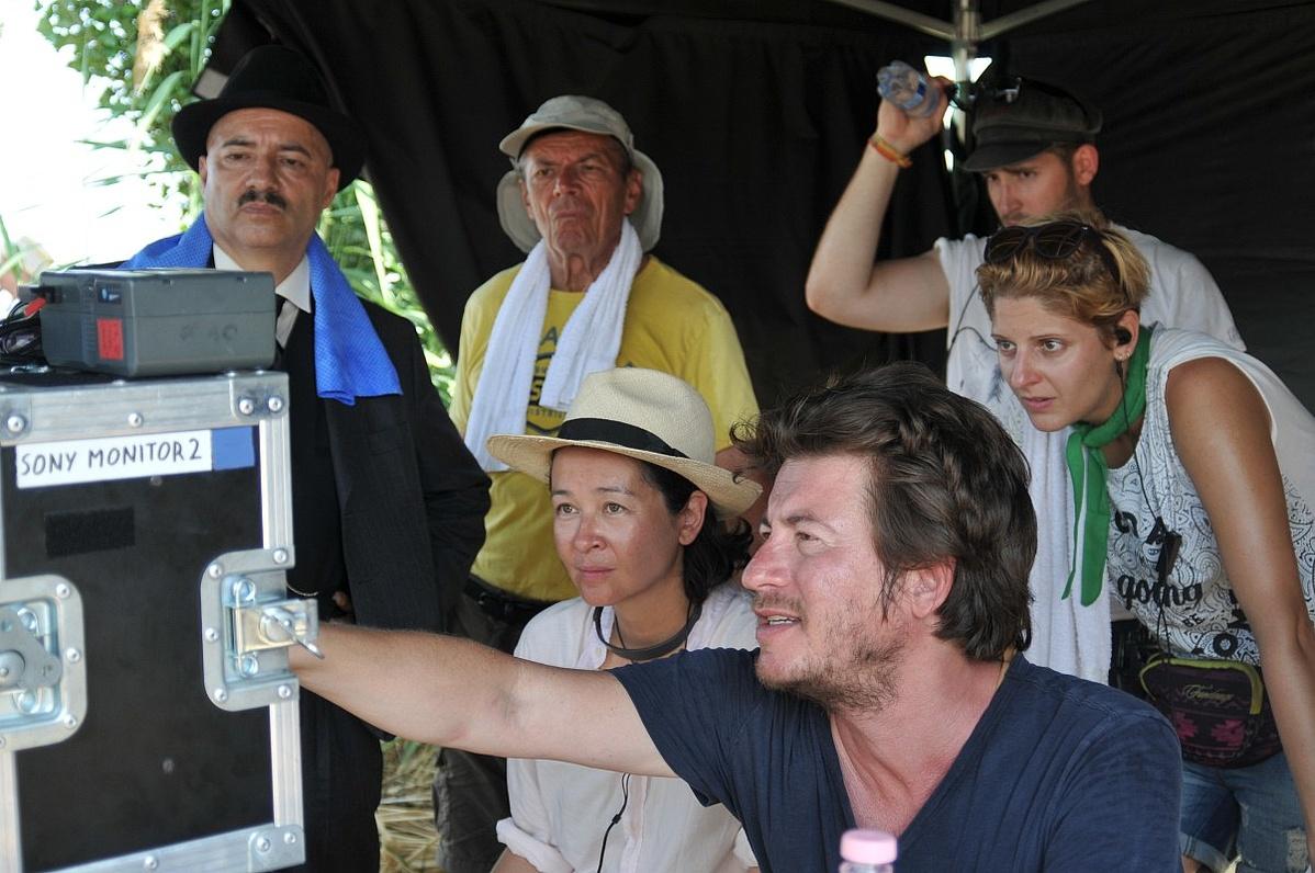 Török Ferenc forgatás közben
