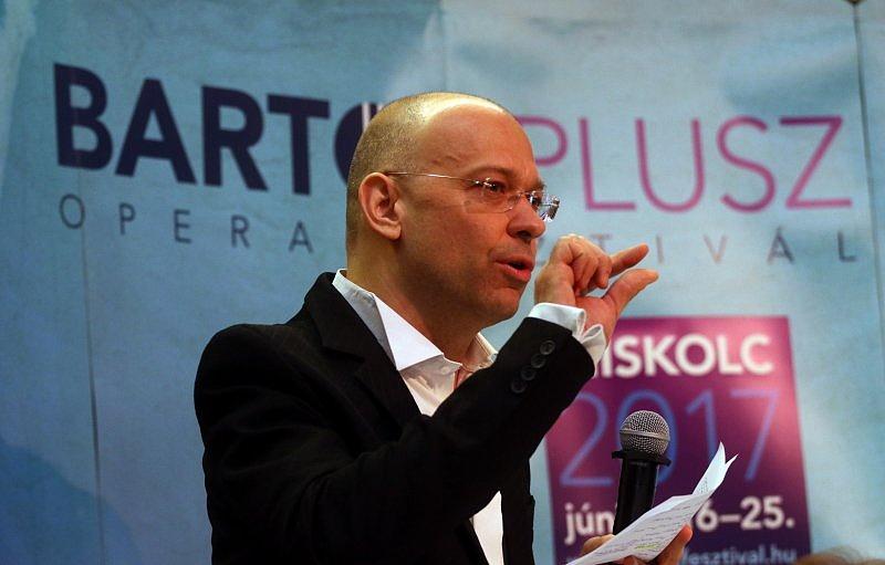 Kesselyák Gergely a fesztivál sajtótájékoztatóján
