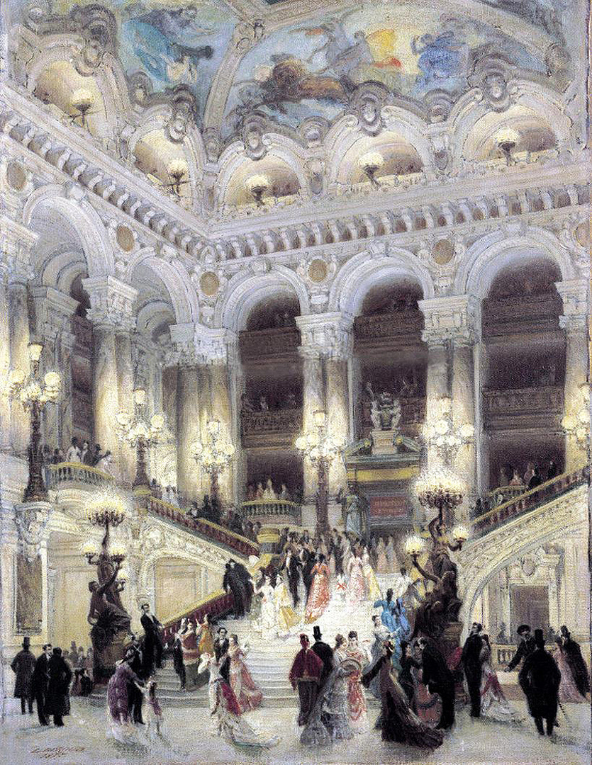 A Garnier Opera lépcsője. Louis Béroud festménye.