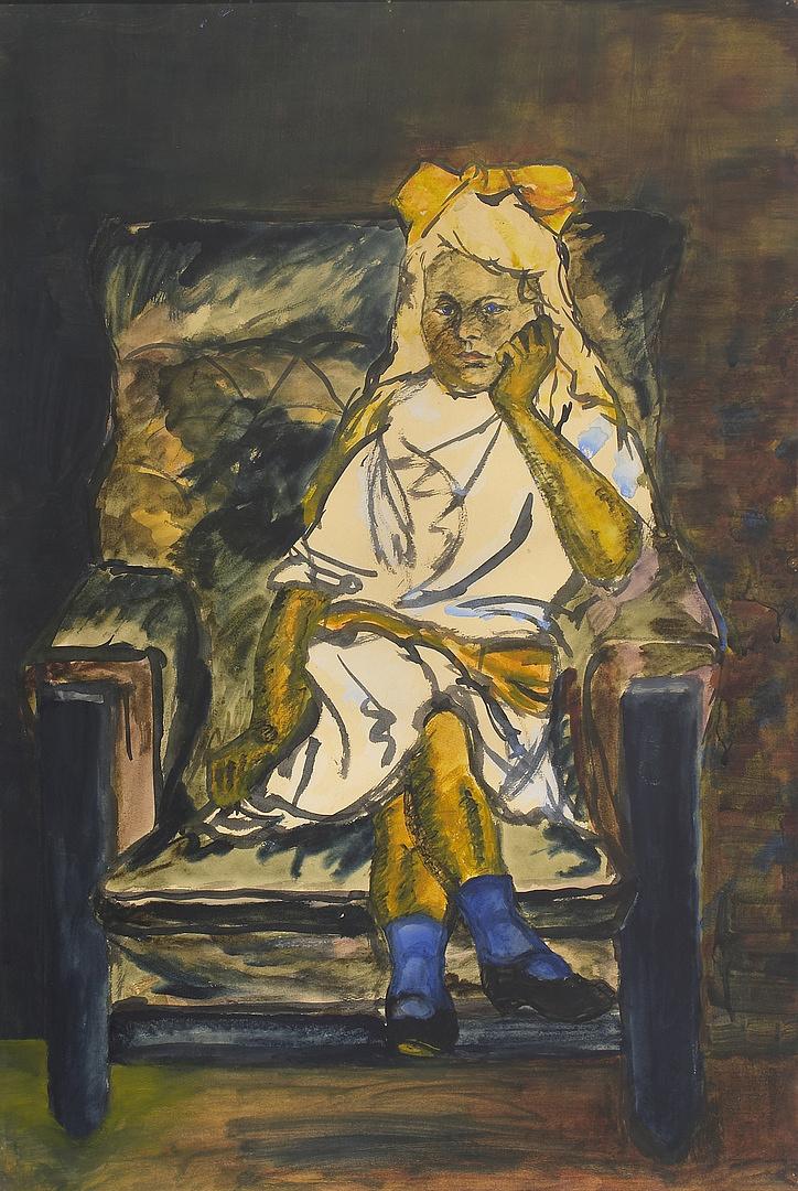 Moholy -Nagy László: Fotelben ülő kislány, (a kép nem része Roberto Polo kollekciójának)
