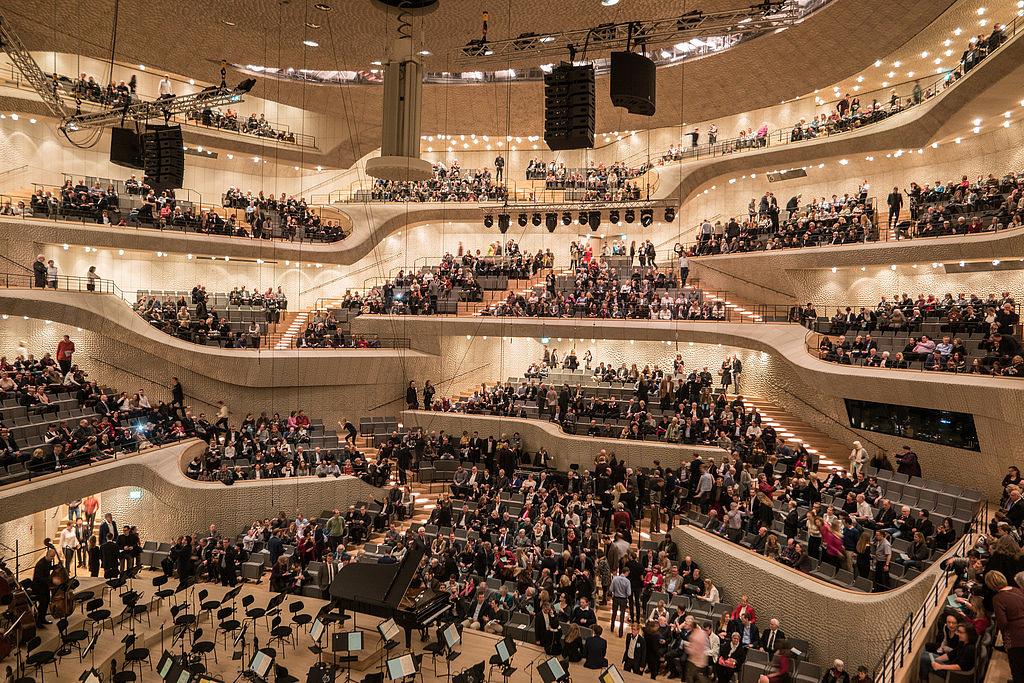 Az Elbphilharmonie nagyterme