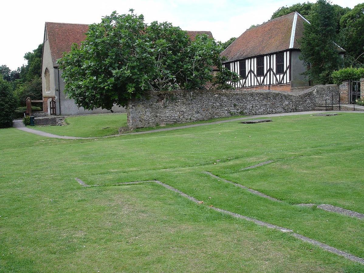 A korábbi Cluniac Zárdatemplom, Prittlewell, Southend-on-Sea, Essex, Anglia