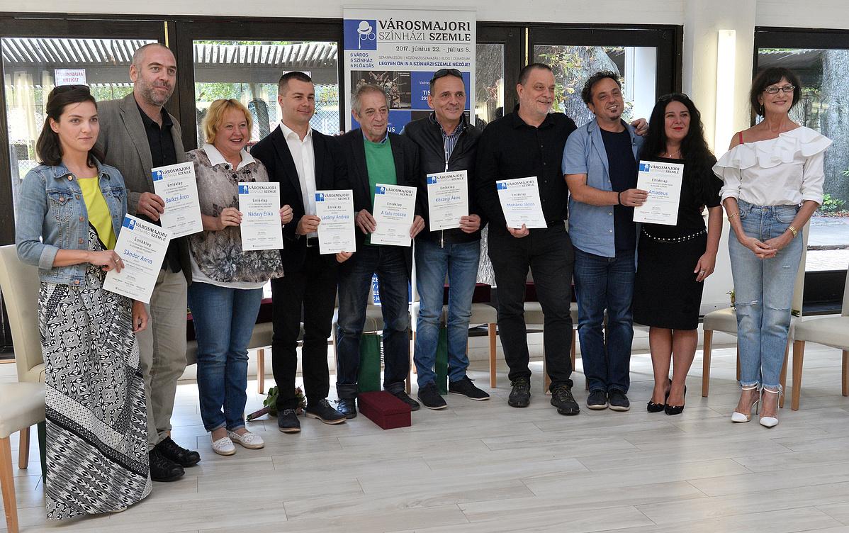 A Városmajori Színházi Szemle díjazottjai