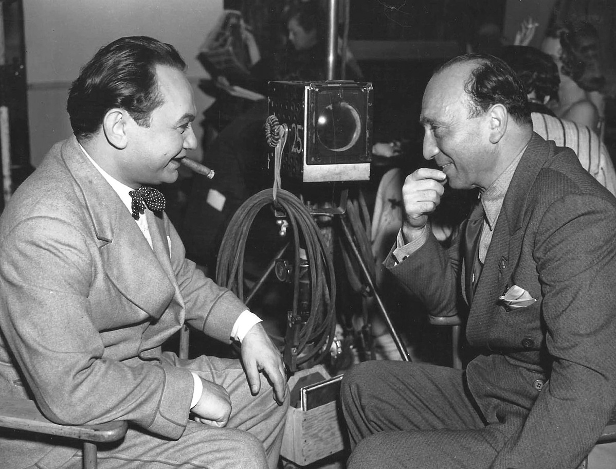 Edward G. Robinson and Curtiz