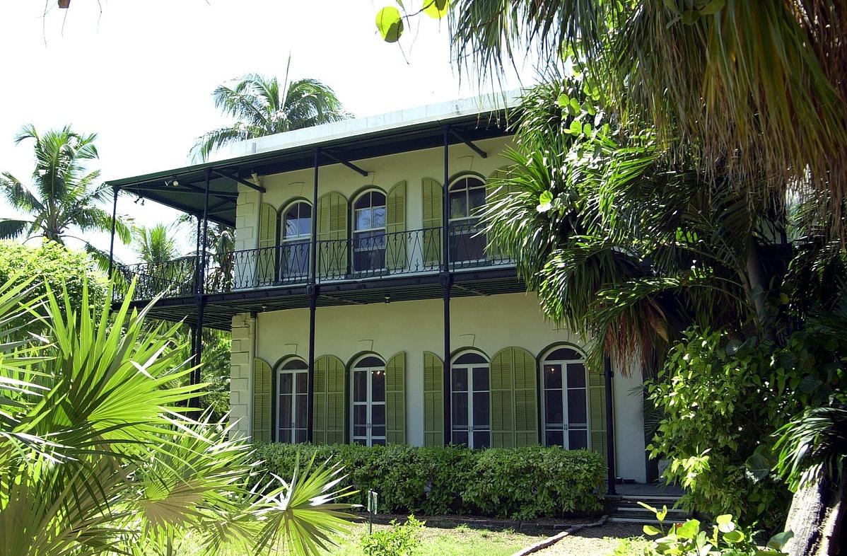 A Hemingway ház, ma az Ernest Hemingway Home Múzeum Key Westben, Floridában