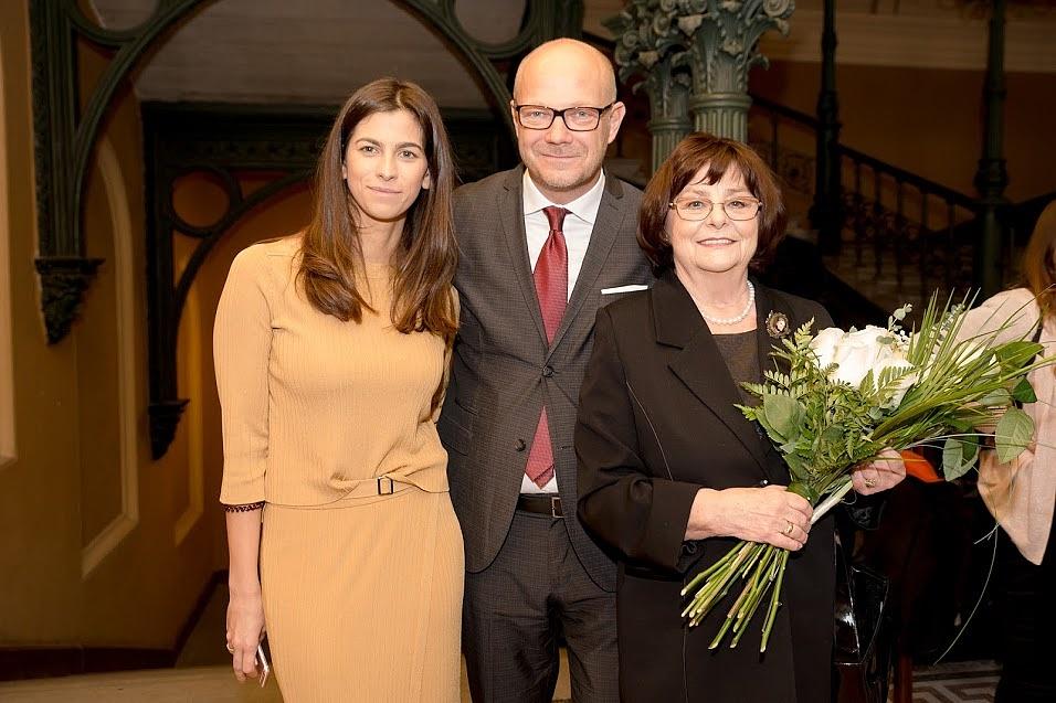 Szalay-Bobrovniczky Alexandra humán főpolgármester-helyettes, Lőrinczy György és Béres Ilona