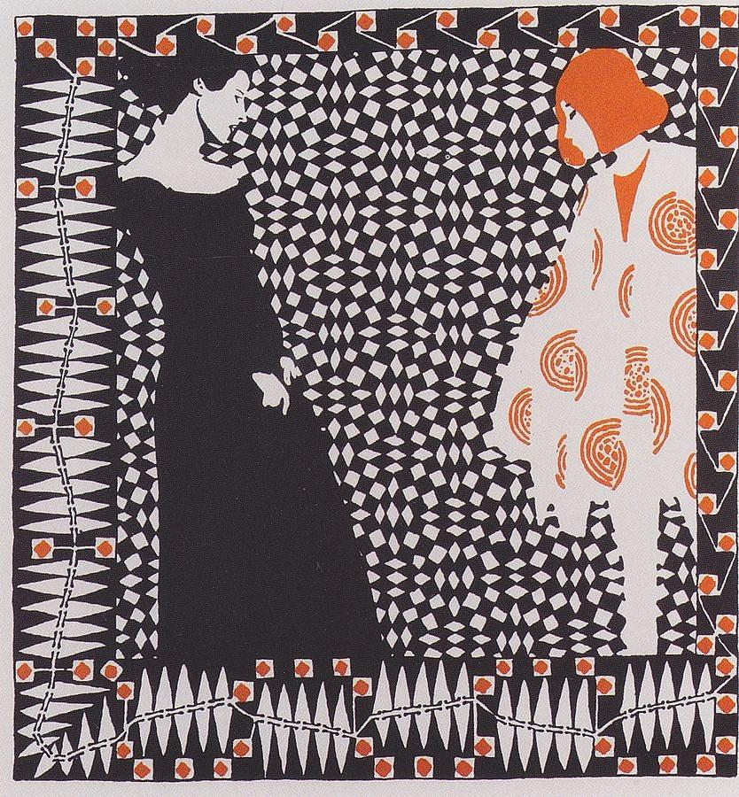 a Ver Sacrum magazin illusztrációja Koloman Mosertől (1900)
