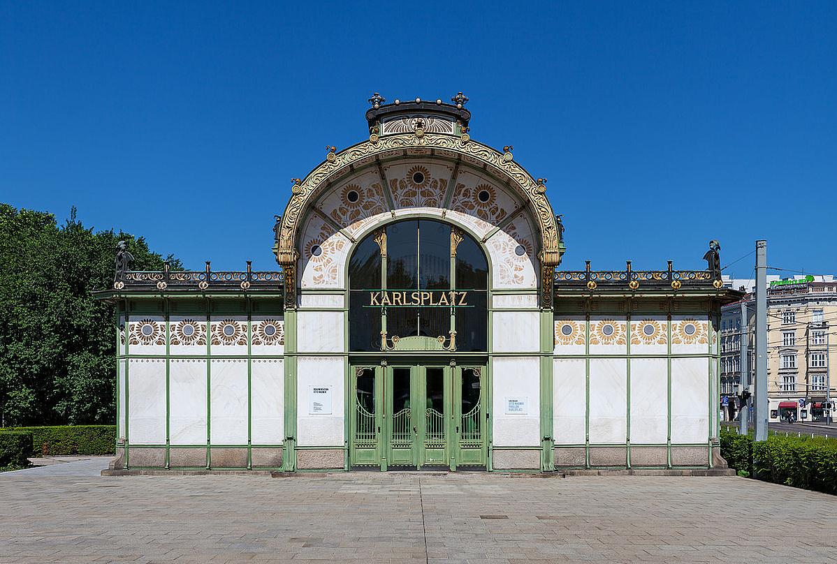Otto Wagner: Karlsplatz megálló Bécs